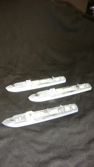 Painted 1/300 Warlord games cruel seas German torpedo boats for Sale in Downers Grove, IL