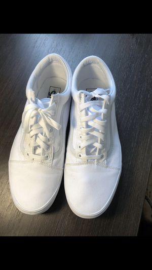 11.5 old school white vans (men) for Sale in Miami, FL