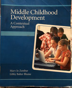 Middle Childhood Development College CSUSB Textbook for Sale in Moreno Valley, CA
