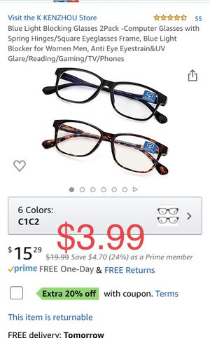 Brand new 2Pack -Computer Glasses for Sale in Davie, FL