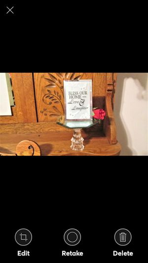 """""""Bless Our Home with Love and Laughter"""" mirror on a Pedistal for Sale in Lynchburg, VA"""