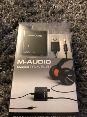 M audio bass traveler new headphone amplifier for Sale in Walnut, CA