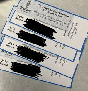 Six Flags any day Admission Tickets for Sale in Hampshire, IL