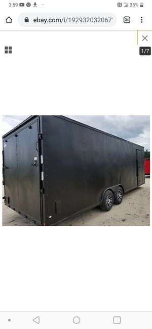 24ft trailer black for Sale in Detroit, MI