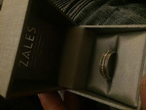 .925 sterling silver 1/4 carat diamond ring men's for Sale in La Crosse, WI