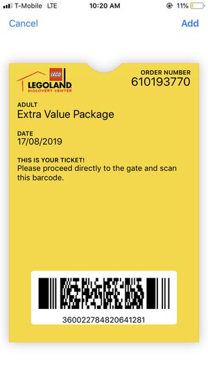 12 tickets to LEGO land for Sale in Atlanta, GA