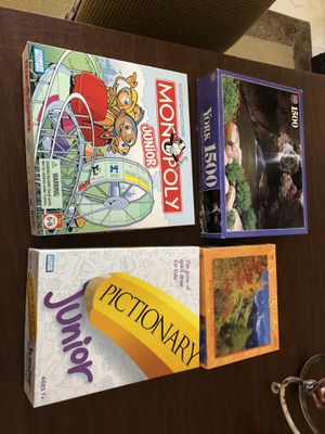 Monopoly, Pictionary and 2 puzzles for Sale in Tempe, AZ