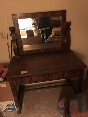 wood power desk antique for Sale in Raleigh, NC
