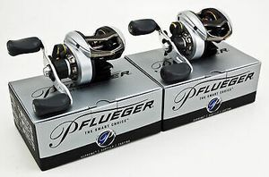 2 Pflueger Supreme SUP71LPX 7:1.1 Right Hand baitcaster fishing reel baitcast 9-ball bearings for Sale in Litchfield Park, AZ