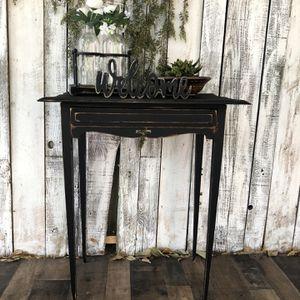 Super Cute Antique Black Accent Table for Sale in Riverside, CA