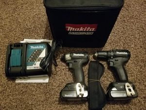 Makita 18-Volt LXT Lithium-Ion Sub-Compact Brushless Cordless 2-piece Combo Kit (Driver-Drill/ Impact Driver) 2.0Ah for Sale in Modesto, CA