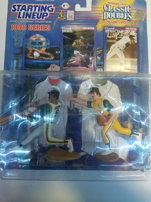 Reggie Jackson and catfish hunter| action figure | baseball collectable for Sale in Kent, WA