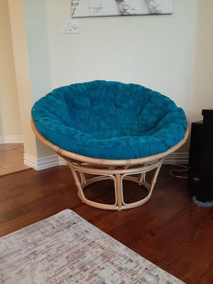 Bamboo chair from Pier One with cushion for Sale in Keller, TX
