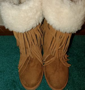 Madden Suede, Fringed Boots for Sale in Oak Lawn, IL