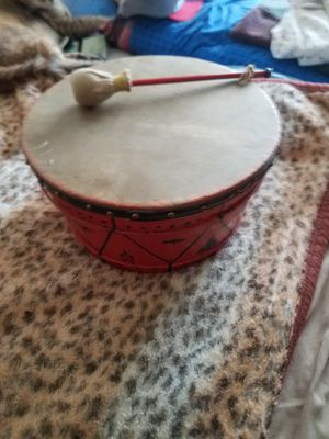 African drum with stick for Sale in Westerly, RI