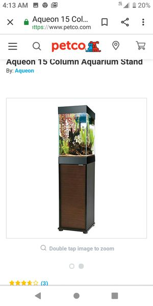 Aquarium With Cabinet Stand for Sale in Sacramento, CA