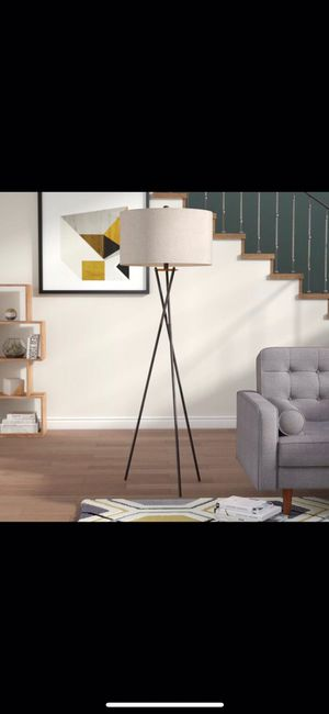 Brand new rust metal tripod Floor Lamps (set of 2) for Sale in Chicago, IL
