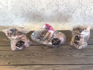 Three taco bell chihuahua toys sealed in package for Sale in Lancaster, CA