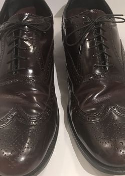 Florsheim Burgundy Leather Wingtip Mens Dress Shoes Size 14D for Sale in Austell,  GA