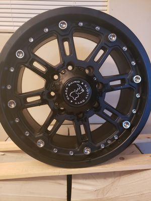4 set off Rhino Rims 18x9.5MATTE BLACK W/ MILLED SPOKES for Sale in Tampa, FL
