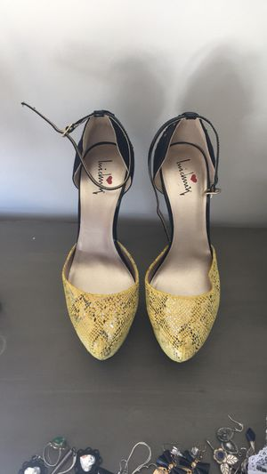 Luichiny snake print heels for Sale in Rockville, MD
