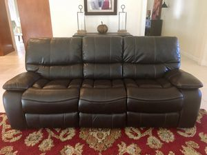 Manual Leather Recliner Couch / Sofa for Sale in Boca Raton, FL