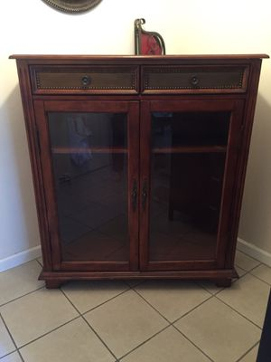 Vintage cabinet with antique brass details for Sale in Gardena, CA