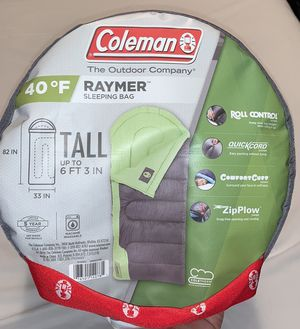 Coleman Raymer 40 Degree Sleeping Bag - Green/Gray NEW for Sale in San Diego, CA