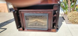"""electric fireplace, 31"""" glass, dimplex, media console for Sale in Lake Elsinore, CA"""