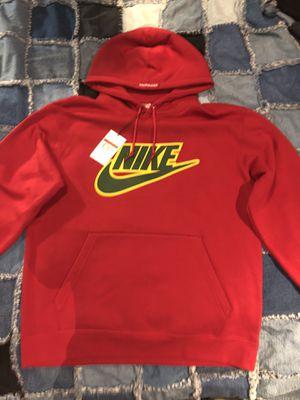 Supreme Nike Applique hooded sweatshirt red for Sale in Vallejo, CA