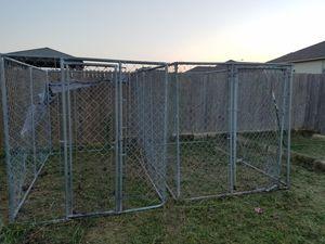 2 12 gauge galvanized Dog kennels 6×6×10 for Sale in Austin, TX