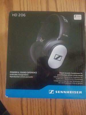 NIB Sennheiser HD 206 closed-back over ear headphones for Sale in Clinton Township, MI