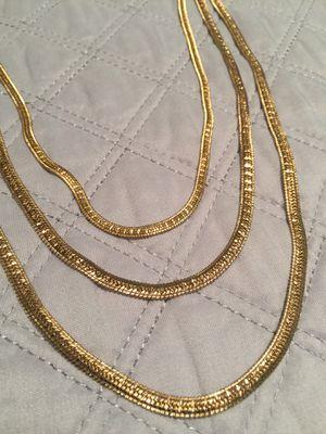 "18k GPL Herringbone Chain Necklace 16""24"" 4mm for Sale in Nashville, TN"