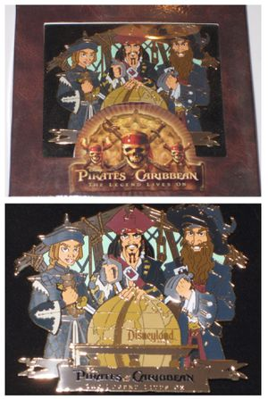 disney disneyland XL PIRATES of the CARIBBEAN BOXED PIN LE 500 for Sale in Tustin, CA