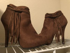 Fringe booties for Sale in Victoria, TX