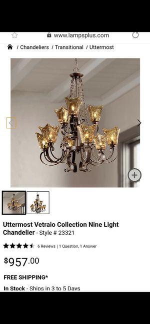 Chandelier nine light uttermost vetralo for Sale in Concord, CA