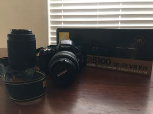 Nikon 5100 Kit - 2 Lenses, NIKKOR 18-55mm and NIKKOR 55-200mm plus Accessories for Sale in Federal Way, WA
