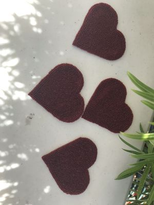 Beaded heart coasters 8 pieces FREE for Sale in Artesia, CA