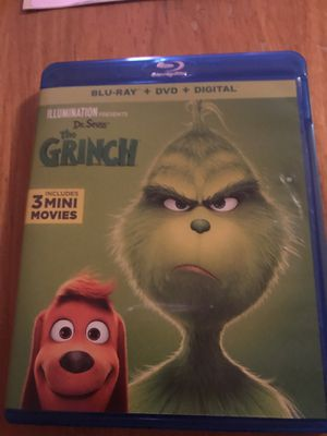 The grinch 2018 blu Ray for Sale in Gladewater, TX