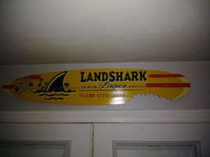 Big Landshark surfboard sign perfect condition $100 for Sale in Pasadena, TX