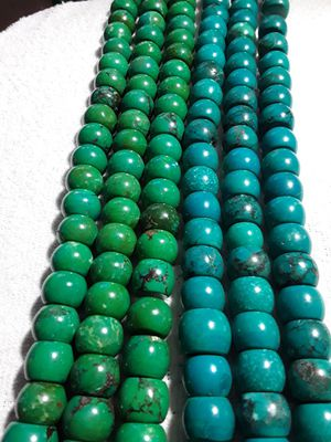 natural turquoise beada drum shape 13 18 mm for Sale in Merrick, NY