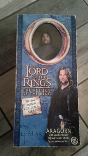 Lord of the rings collectors edition Aragorn Figure! for Sale in Gulfport, FL
