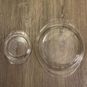 Vintage Pyrex lids (#683 - goes with a 023) & (#980 - does with 080) excellent condition for Sale in Huntington Beach, CA