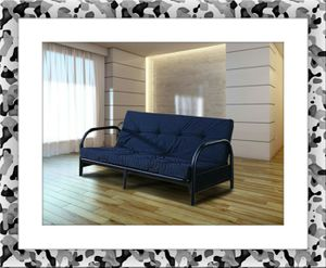 Black futon frame free mattress and delivery for Sale in North Potomac, MD