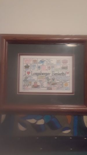 I LOVE LONGABERGER BASKETS PLAQUE for Sale in Rock Falls, IL
