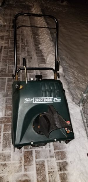 craftsman snowblower snow blower with electric start works great. Ready for winter. for Sale in Streamwood, IL