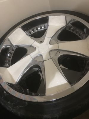 22 inch rims and tires for Sale in Pine Bluff, AR