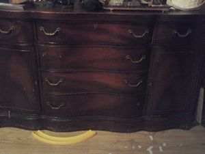 buffet cabinet antique for Sale in Chicago, IL