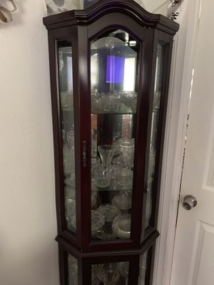 China cabinet cherry wood for Sale in Los Angeles, CA