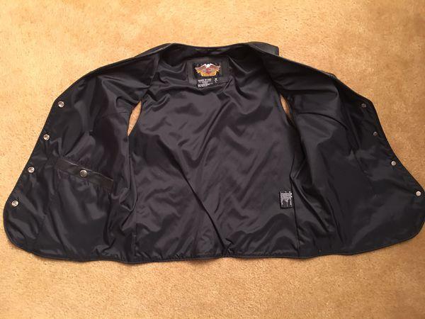 Women's Large Harley Davidson Black leather Vest
